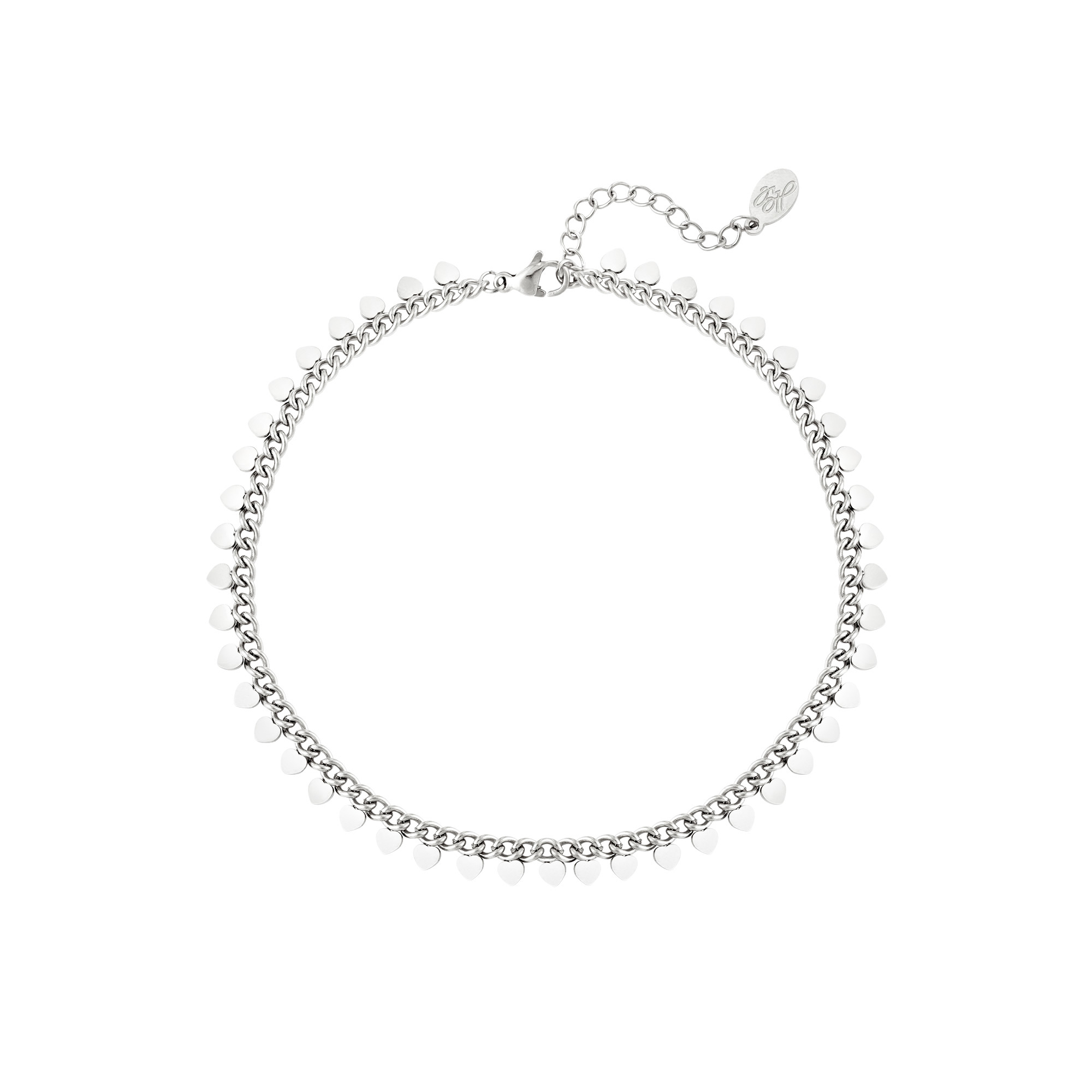 By Moise ARMBAND HEARTS ZILVER