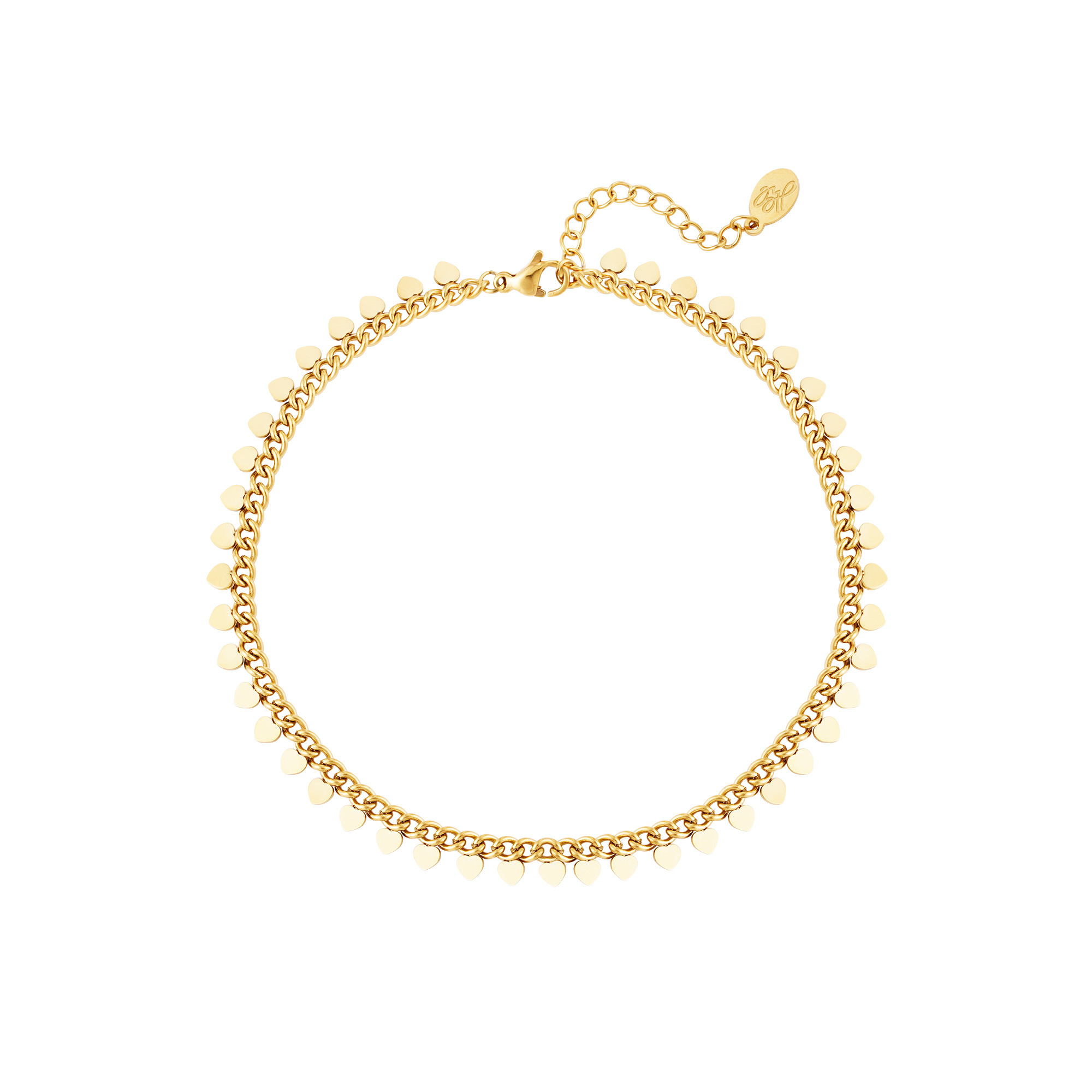 By Moise ARMBAND HEARTS GOUD