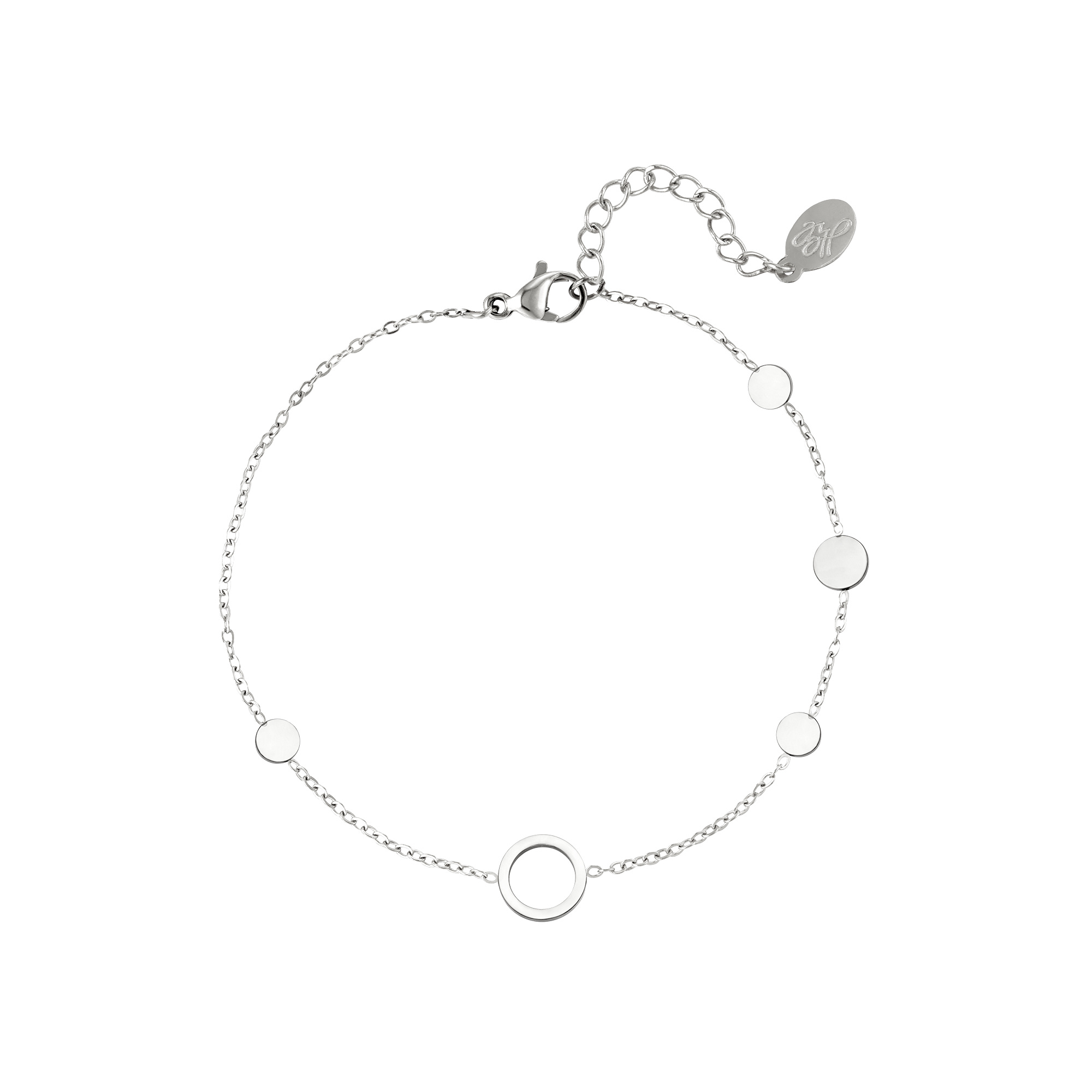 By Moise ARMBAND CIRKELS ZILVER