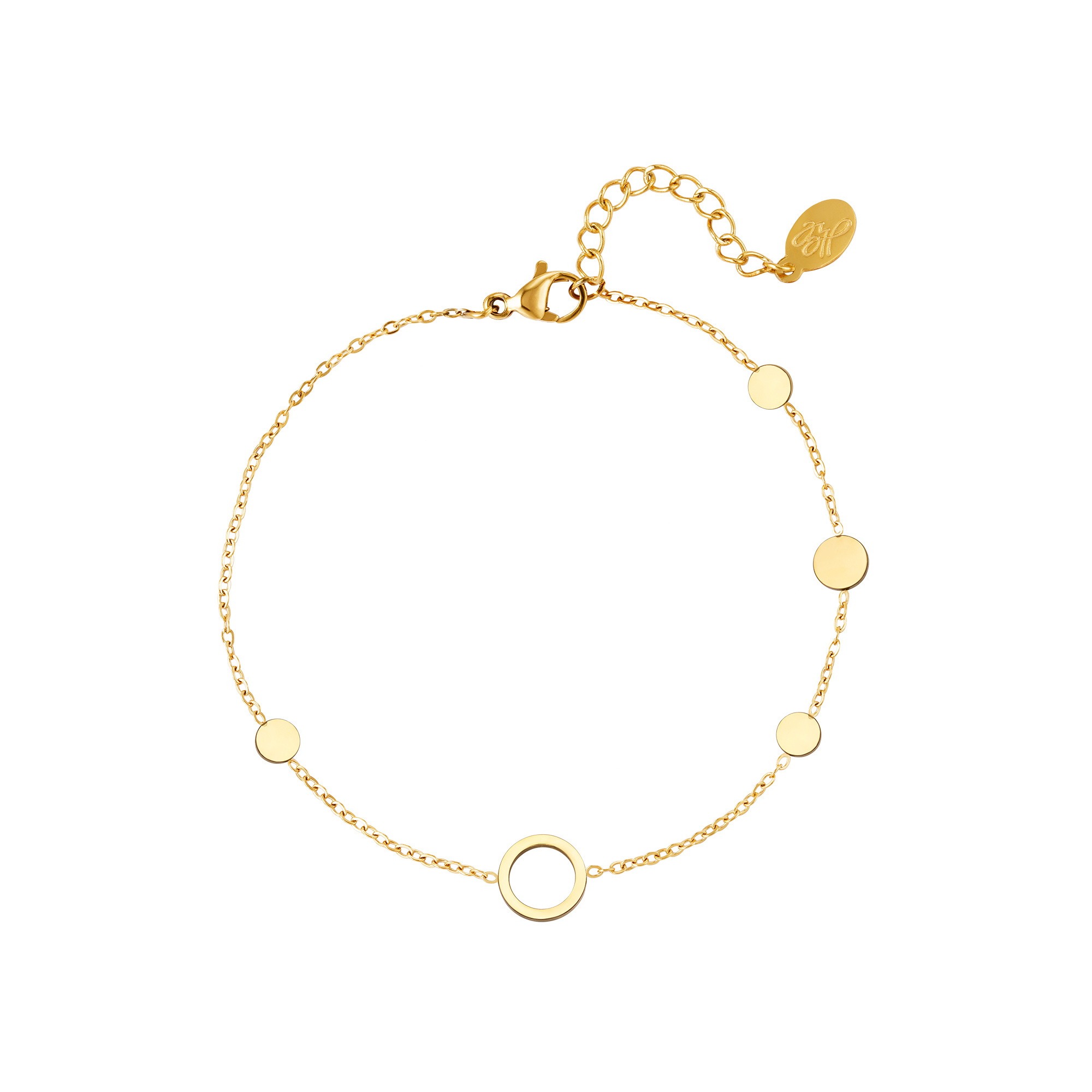 By Moise ARMBAND CIRKELS GOUD