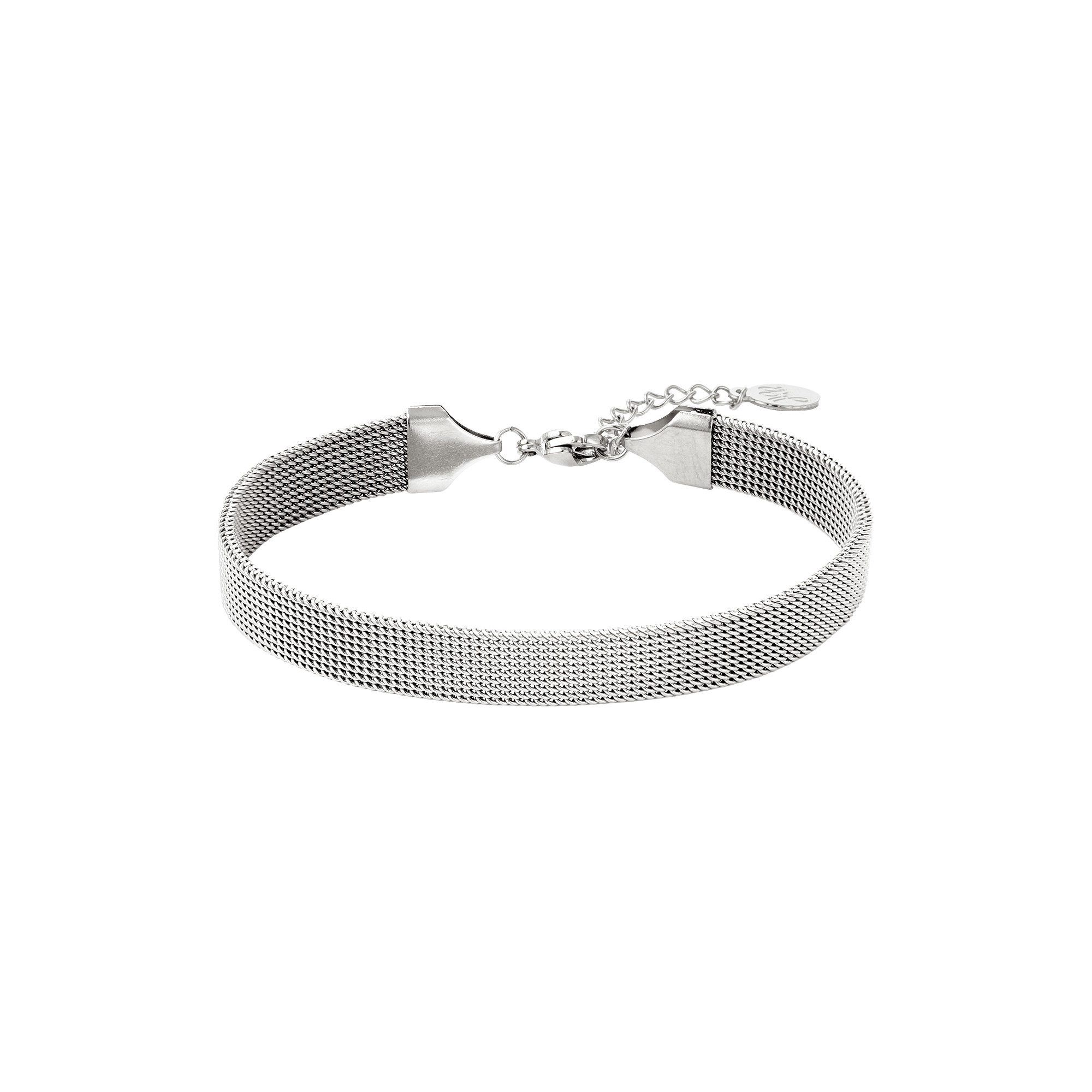 By Moise ARMBAND STEEL ZILVER