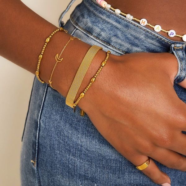 By Moise ARMBAND STEEL GOUD
