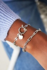 By Moise ARMBAND LINKED CHAIN ZILVER