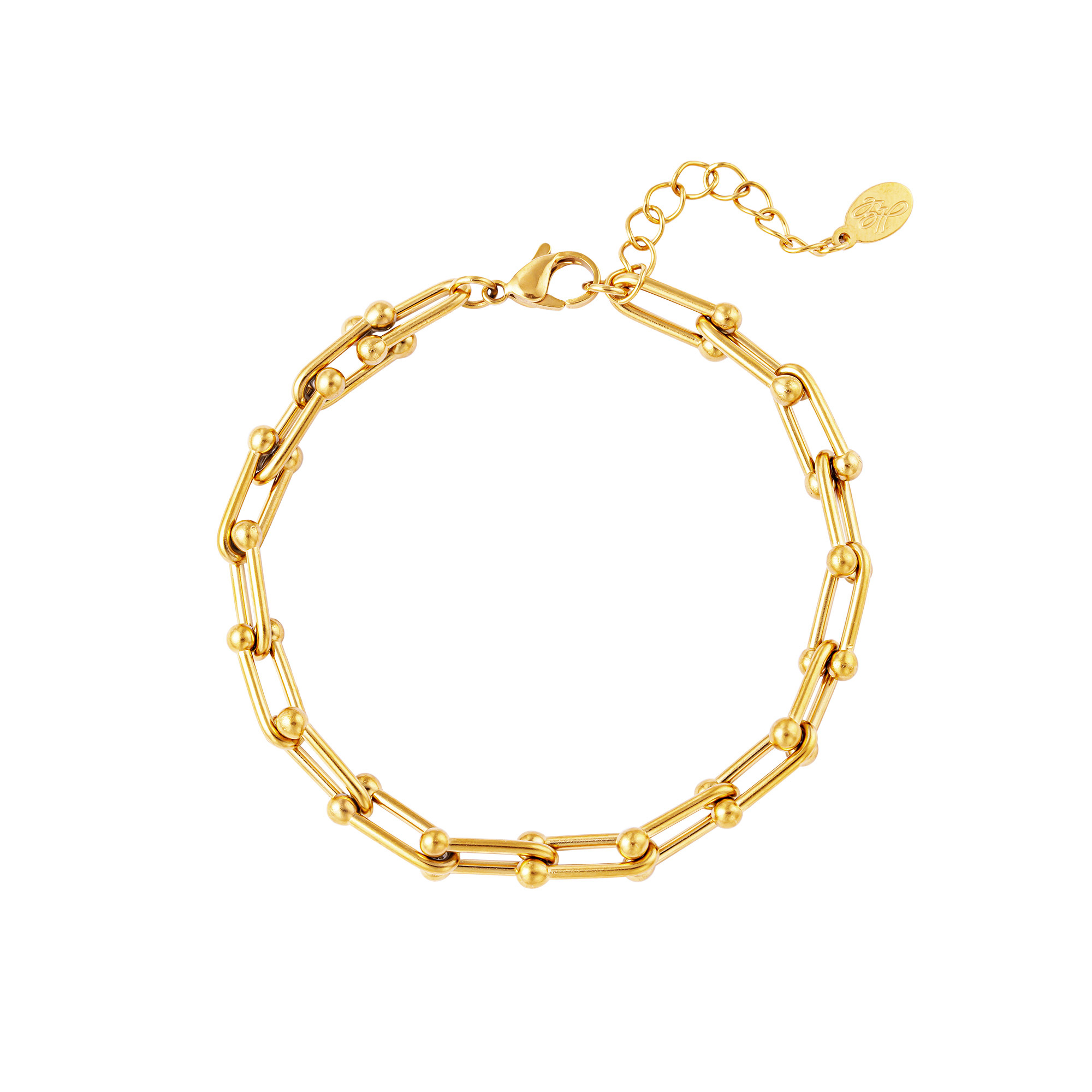 By Moise ARMBAND LINKED CHAIN GOUD