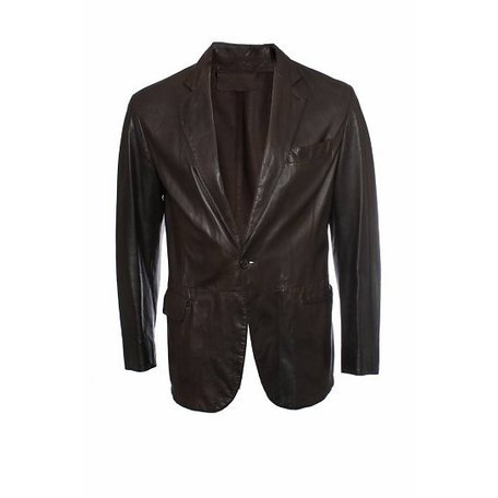 Prada, Brown leather jacket, size M