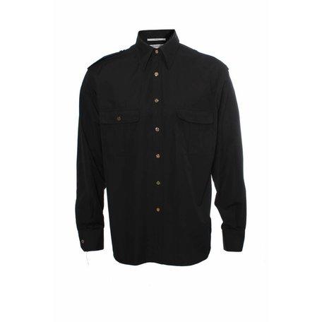 Zwart overhemd, maat L