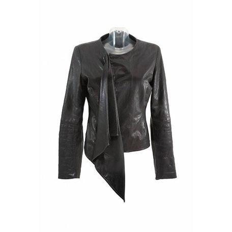 DNA, Black, leather jacket, size S
