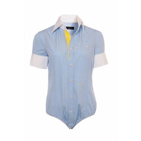 Dsquared, Light blue, body shirt, size 44 (it)