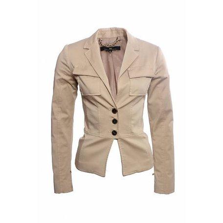 Elisabetta Franchi, Beige, blazer jacket, size S