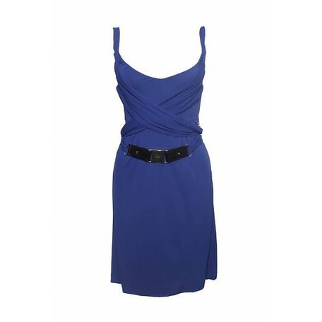 Gucci, Donkerblauwe jurk, maat S