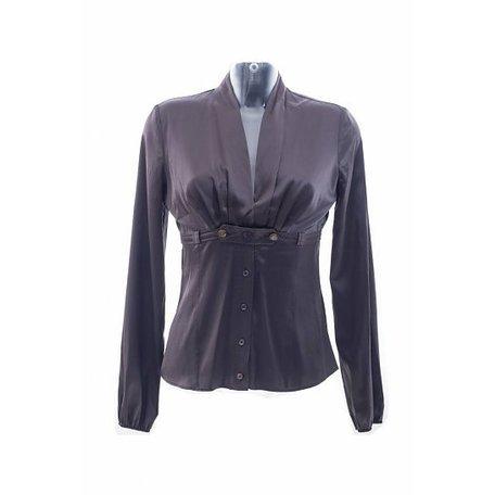 Gucci, Bruin zijden blouse, maat XS/S