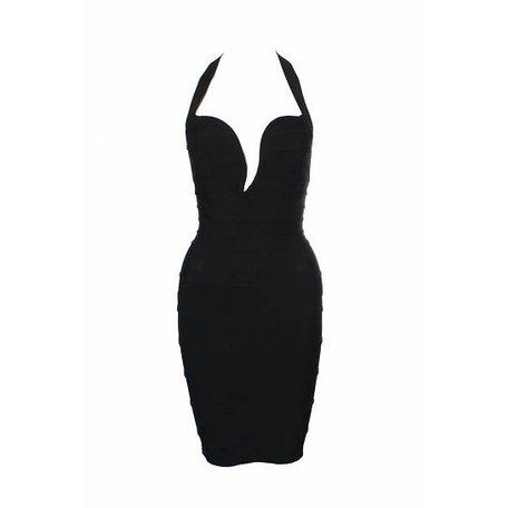 Hervé Léger, Zwarte jurk, maat XS