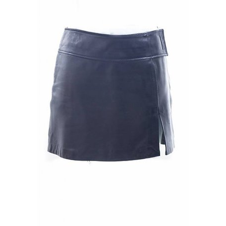 Ventcouvert, Black leather skirt, size S