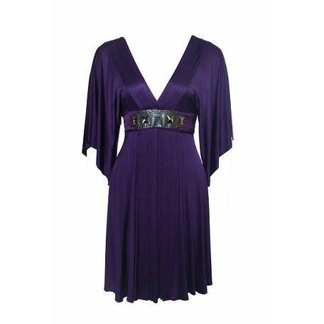 Paarse jurk, maat S