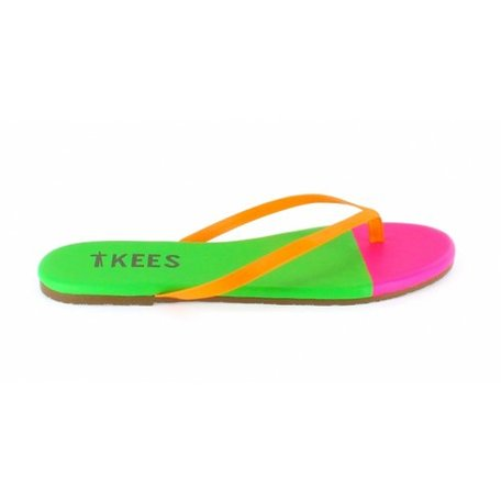 Tkees, groen/roze/oranje