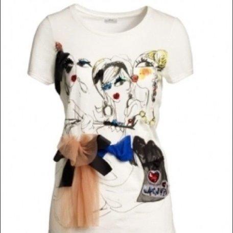 Lanvin x H&M, Wit T-shirt, maat XS