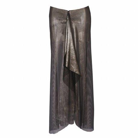 Skirt Black Metallic Mesh
