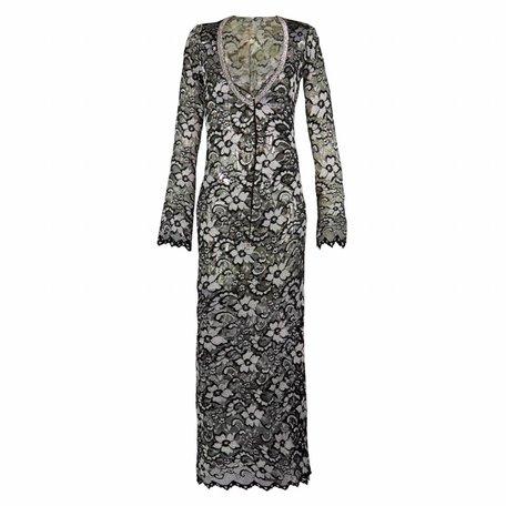 Black-Silver lace dress