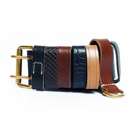 Yves Saint Laurent belt with leather straps