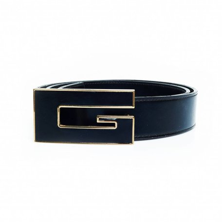 Gucci black belt with black G
