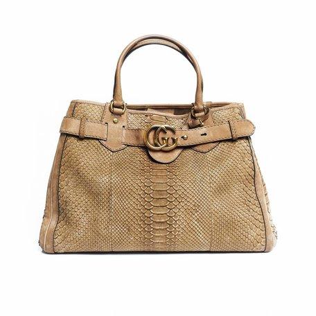 Gucci python running tote bag