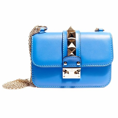 Valentino blue glamlock bag
