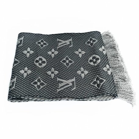 Louis Vuitton grey scarf