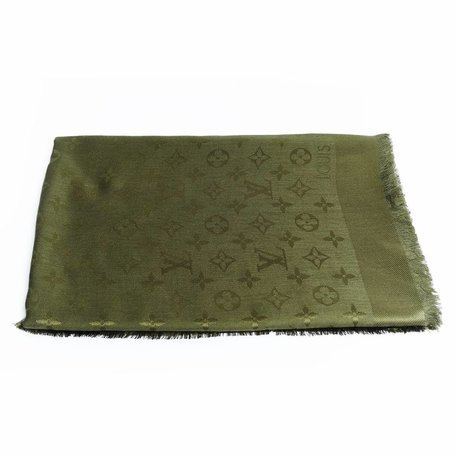 Louis Vuitton scarf green