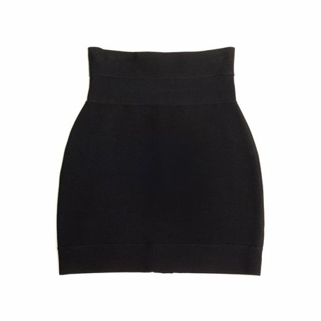 Hervé Léger,  black high waist mini skirt