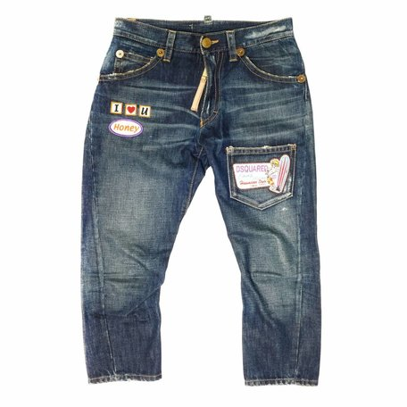 Dsquared, ¾ patch jeans, size 40