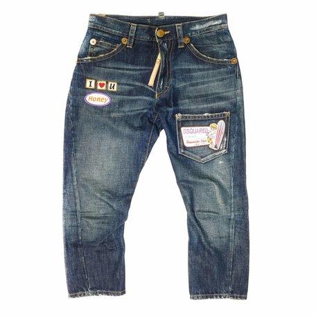 Dsquared, ¾ spijkerbroek, maat 40 (it)