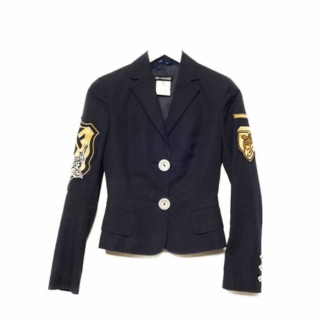 Gianfranco Ferre, Donkerblauwe blazer, maat 38