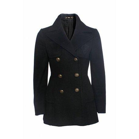 Gucci Crest, Black coat, size 40