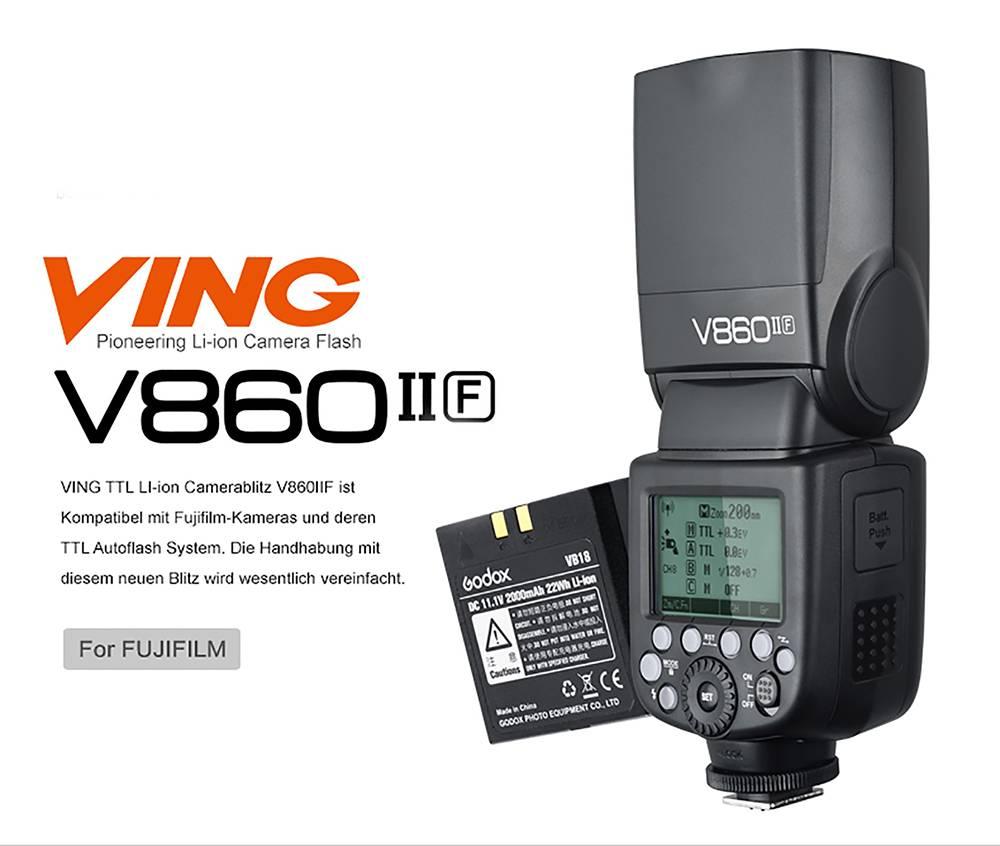 Godox V860II-F Systemblitz für Fuji