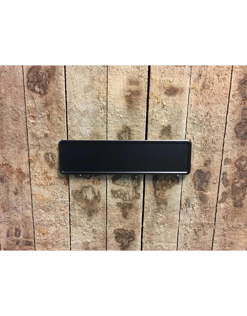 Mat zwarte Midi Kentekenplaat met naam 34x9
