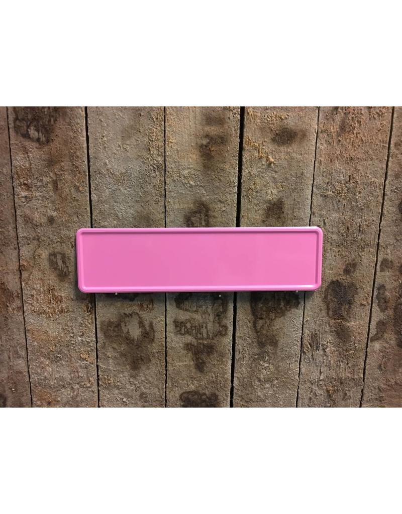 Roze Midi Kentekenplaat met naam 34x9