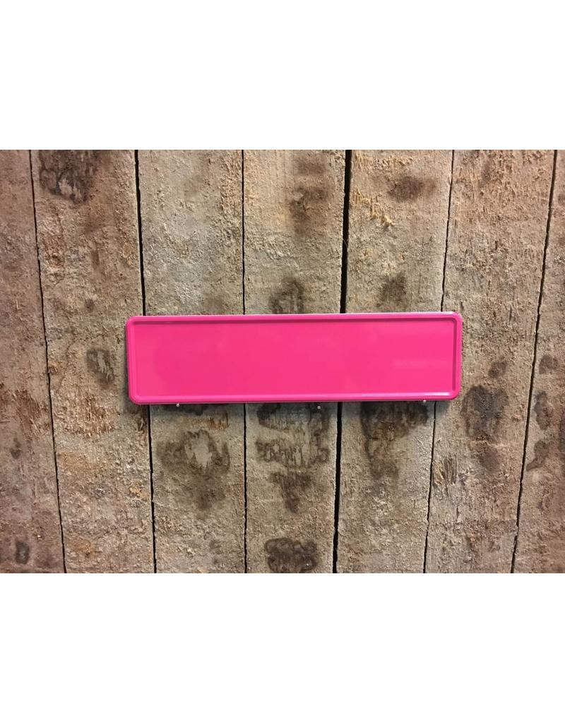 Donker roze Midi Kentekenplaat met naam 34x9