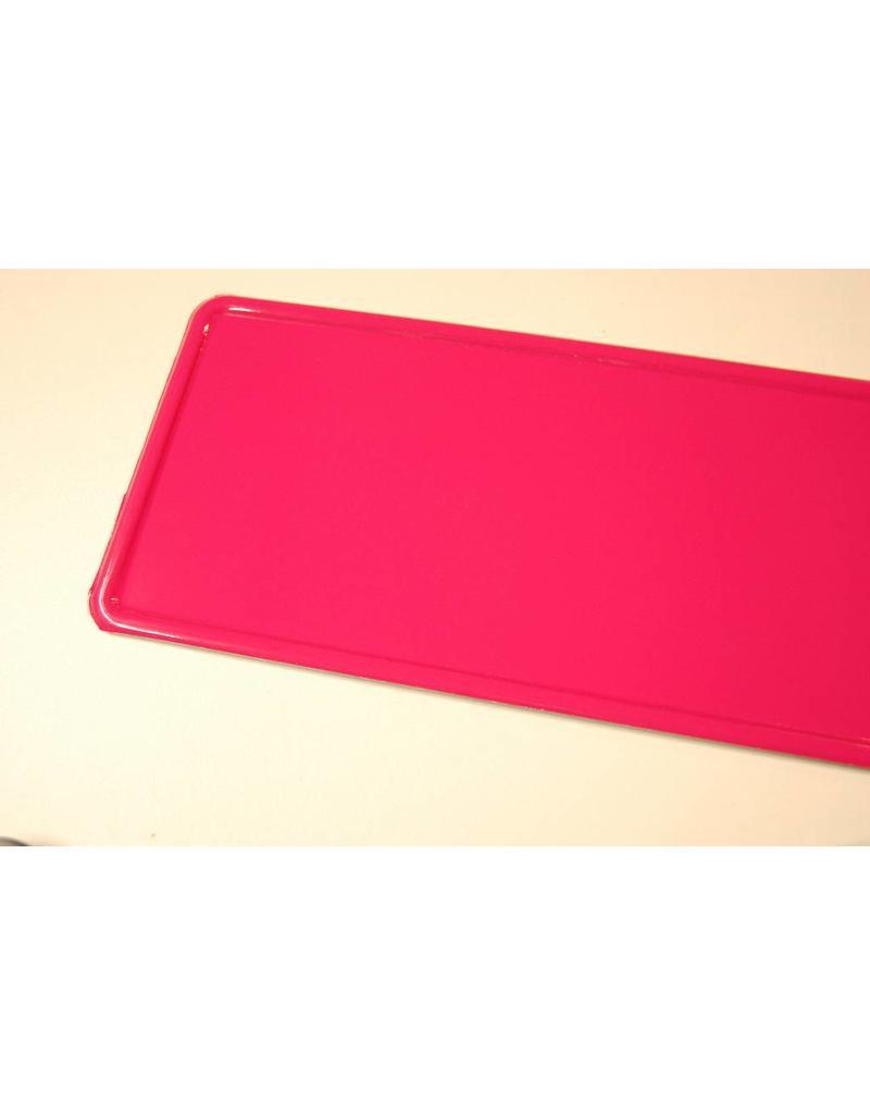 Kentekenplaat Donker Roze