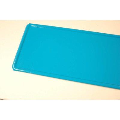 Licht blauwe kentekenplaat met naam