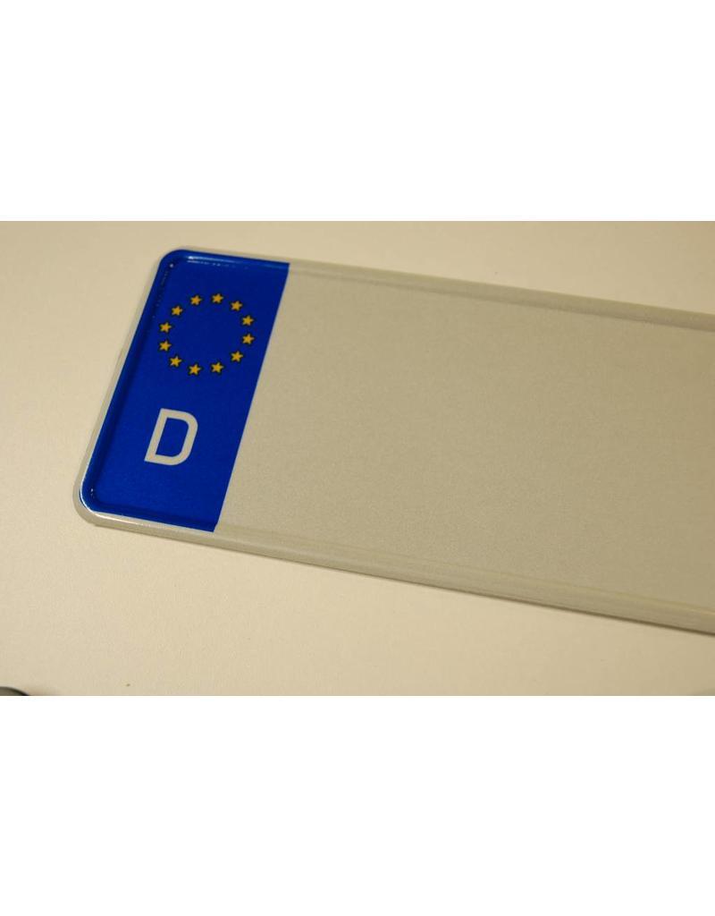 Duitse EU kentekenplaat wit met naam
