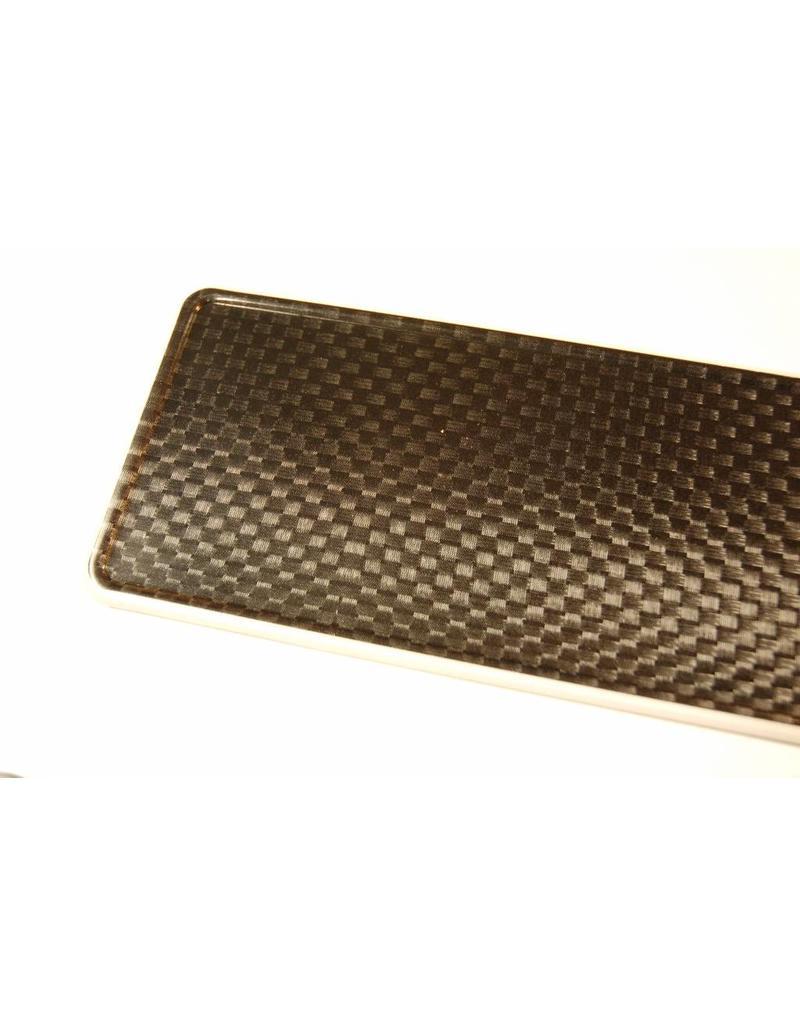 Carbon look kentekenplaat met naam