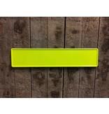 Fluor geel kentekenplaat met naam