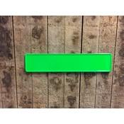 Fluor groen kentekenplaat met naam