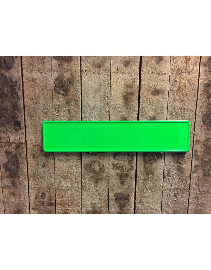 Kentekenplaat Fluor Groen