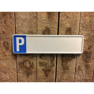 Parkeer kentekenplaat met naam 34x9cm