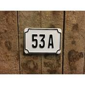 Huisnummer Wit
