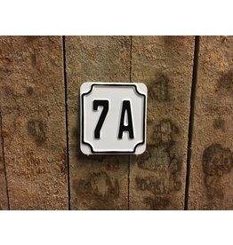 Huisnummer Wit Reflecterend