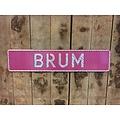 Roze glitter kentekenplaat met naam