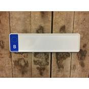Midi Kentekenplaat Wit B 34x9