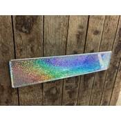 Zilver Glitter / Flake kentekenplaat met naam